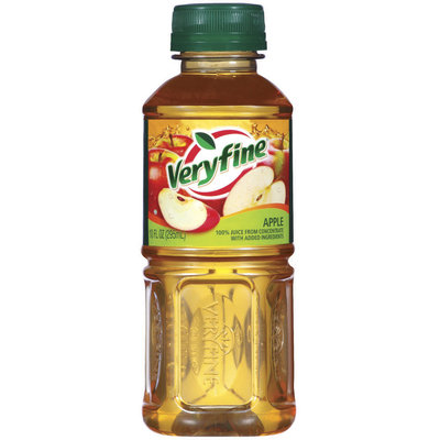 Veryfine Apple 100% Juice 10 Fl Oz Plastic Bottle