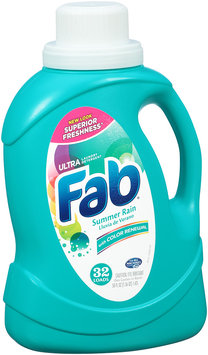 Fab® Ultra Summer Rain with Color Renewal Laundry Detergent 50 fl. oz. 32 Loads