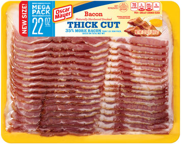Oscar Mayer Naturally Hardwood Smoked Thick Cut Bacon 22 oz. Pack
