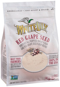 White Lily® Red Grape Seed Enriched All Purpose Wheat Flour 32 oz. Packet