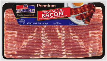 Plumrose® Premium Hardwood Smoked Thick Sliced Bacon