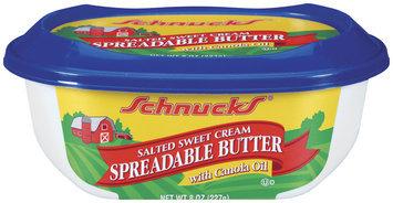 Schnucks Spreadable Salted Sweet Cream W/Canola Oil Butter 8 Oz Tub