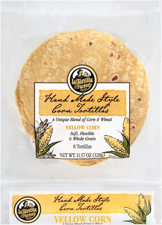 La Tortilla Factory® Yellow Corn Tortillas 8 ct Bag