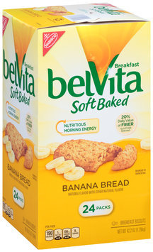 Nabisco belVita Soft Baked Banana Bread Breakfast Biscuits 24 ct Box