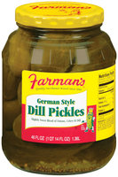 Farman's German Style Dill Pickles 46 Oz Jar