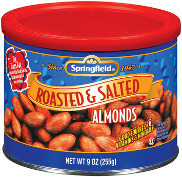 Springfield Almonds, Roasted & Salted Nuts 9 Oz Canister