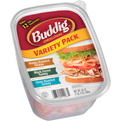 Buddig™ Original Variety Pack Honey Roasted/Black Forest/Oven Roasted Turkey 24 oz. Plastic Container