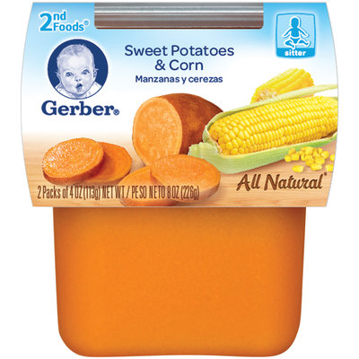 Gerber 2nd Foods Sweet Potatoes & Corn 8 Oz Sleeve