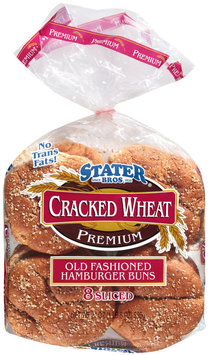 Stater Bros. Old Fashioned Hamburger Cracked Wheat 8 Ct Buns 21 Oz Bag