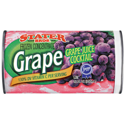 Stater Bros. Grape Frozen Concentrate Juice Cocktail 12 Oz Can