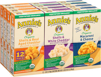 Annie's Homegrown® Organic Macaroni & Cheese Variety Pack 12-6 oz. Boxes