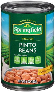 Springfield® Premium Pinto Beans Seasoned with Garlic 15 oz. Can