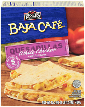 Baja Cafe® White Chicken and 3-Cheese Quesadillas 5 ct Box