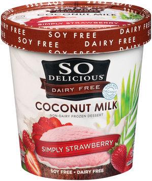 So Delicious® Dairy Free Coconut Milk Simply Strawberry 1 pt Carton