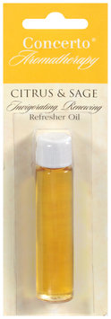 Concerto® Aromatherapy Citrus & Sage Refresher Oil Carded Pack