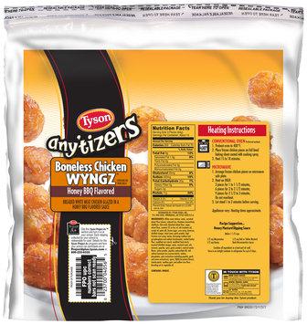 Tyson® Any'tizers® Honey BBQ Flavored Boneless Chicken WYNGZ 44 oz. Bag