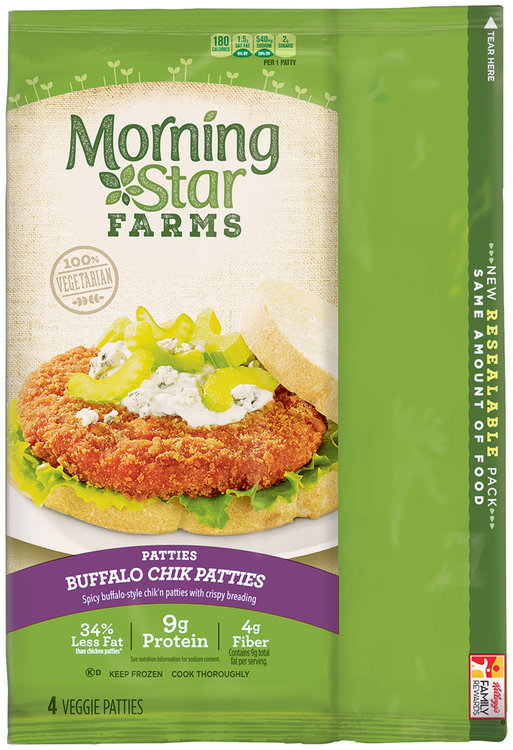 Morning Star Farms Patties Buffalo Chik Patties 10 Oz Package Reviews