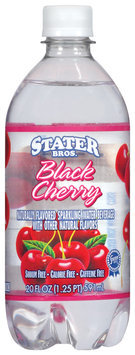 Stater Bros. Black Cherry Sparkling Water Beverage 20 Oz Plastic Bottle