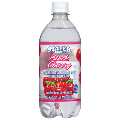 Stater Bros. Black Cherry Sparkling Water Beverage 20 Oz Plastic Bottle