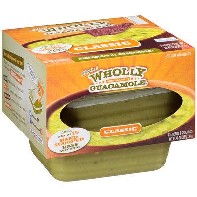 Wholly Guacamole® Classic Guacamole 3-16 oz. Trays