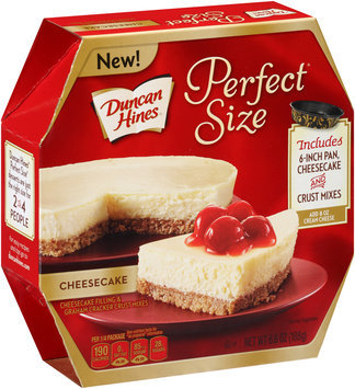 Duncan Hines® Perfect Size™ Cheesecake Filling & Graham Cracker Crust Mixes