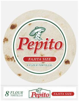 Pepito Flour Fajita Size 8 Ct Tortillas 8 Oz Bag