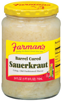 Farman's Barrel Cured Sauerkraut