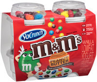 YoCrunch® Vanilla Lowfat Yogurt with Peanut Butter M&M's™ Chocolate Candies 4-4 oz. Cups