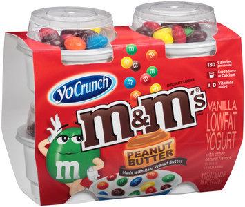 YoCrunch® Vanilla Lowfat Yogurt with Peanut Butter M&M's™ Chocolate Candies 4-4 oz. Cups