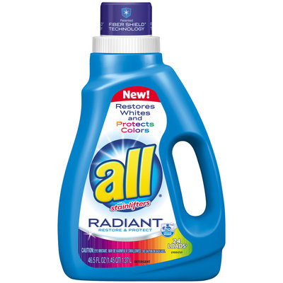 all® Radiant Laundry Detergent 24 Loads 46.5 fl. oz. Bottle