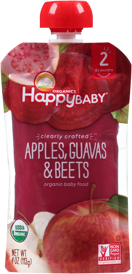 Happy Baby® Organics Apples, Guavas & Beets 4 oz. Pouch