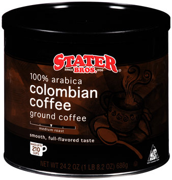 Stater Bros.® 100% Arabica Colombian Coffee Ground Coffee 24.2 oz. Canister