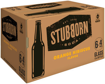 Stubborn Soda™ Orange Hibiscus Flavor Soda 6-4 ct Packs