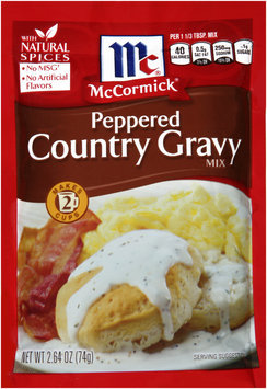 McCormick® Peppered Country Gravy Mix 2.64 oz Packet