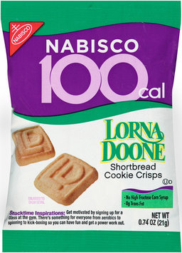 Nabisco Lorna Doone Shortbread Cookie Crisps 0.74 oz. 100 Calorie Pack