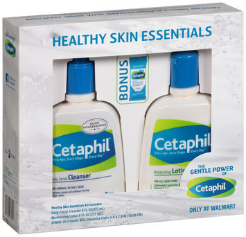 Cetaphil Daily Facial Cleanser, Moisturizing Lotion, Gentle Skin Cloths