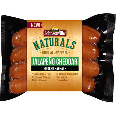 Johnsonville Naturals Jalapeno Cheddar Smoked Sausage 12 oz. pkg (102567)