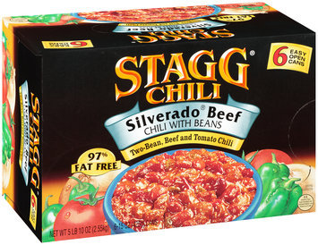 Stagg® Chili Silverado® Beef Chili with Beans 6-15 oz. Can