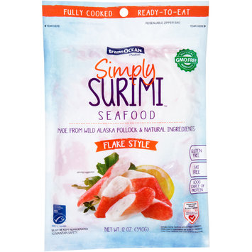 Trans-Ocean Products® Simply Surimi™ Flake Style Seafood 12 oz. Bag