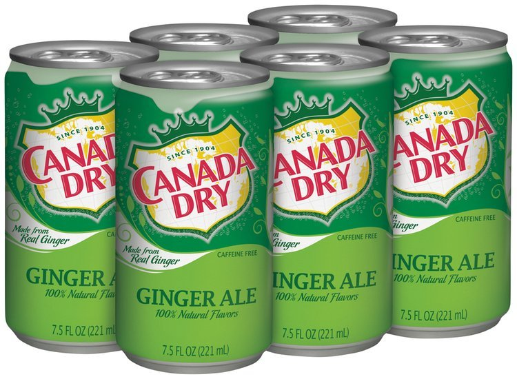 Canada Dry® Ginger Ale 6-7.5 fl. oz. Cans