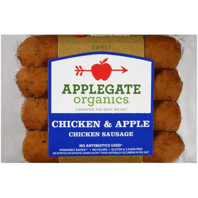 Applegate Organics® Chicken & Apple Sweet Chicken Sausage 4 ct Pack