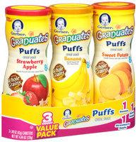 Gerber® Graduates® Banana/Sweet Potato/Strawberry Apple Puffs Cereal Snacks Value Pack