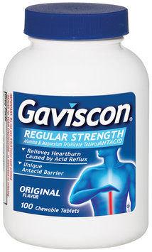 Gaviscon Regular Strength Chewable Tablets Antacid 100 Ct Bottle