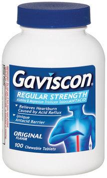 Gaviscon Regular Strength Chewable Tablets Antacid 100 Ct Bottle
