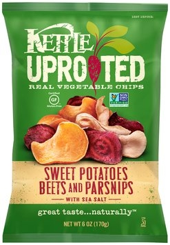 Kettle® Uprooted™ Sweet Potatoes Beets and Parsnips with Sea Salt Vegetable Chips 6 oz. Bag