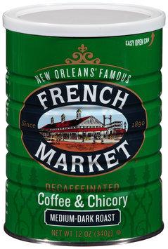 French Market® Medium-Dark Roast Decaffeinated Ground Coffee & Chicory 12 oz. Canister