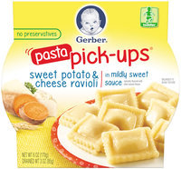 Gerber® Pasta Pick-Ups® Sweet Potato & Cheese in a Mildly Sweet Sauce Ravioli 6 oz. Sleeve (Pack of 8)