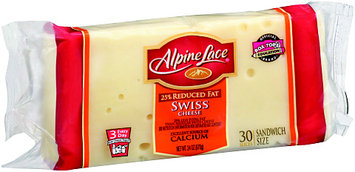 Alpine Lace® 25% Reduced Fat Sandwich Size Swiss Cheese 24 oz. Pack