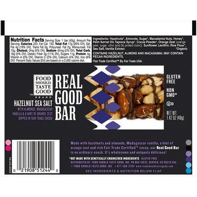 Food Should Taste Good™ Hazelnut Sea Salt Real Good Bar 1.42 oz. Pack