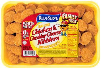 Redi-Serve Chicken & Cheddar Cheese Nibblers 35 oz. Tray